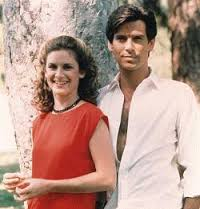 Stephanie Zimbalist and Pierce Brosnan