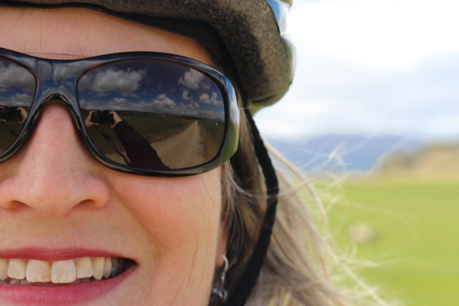 Author JA Pieper on Otago Central Rail Trail